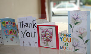 Some of the thank you cards received by Brunel Mortgages